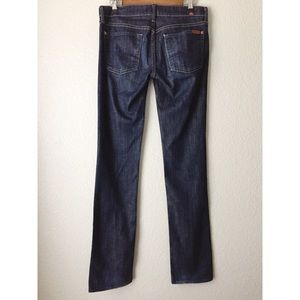 7 For All Mankind Jeans - 7 for All Mankind Straight Leg Dark Wash Jeans